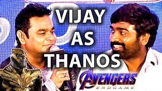 VJS as Thanos – Avengers Endgame