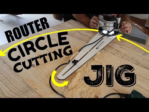 How To Cut a Round Table Top - Router Circle Cutting Jig