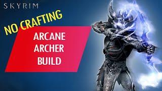 Skyrim: How to Mąke an OP NO CRAFTING ARCANE ARCHER BUILD (Legendary)