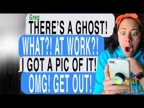 I SAW A GHOST AT WORK! *CAUGHT ON CAMERA!* Scary Text Message Story | A Ghost Helped Me Find A Thief