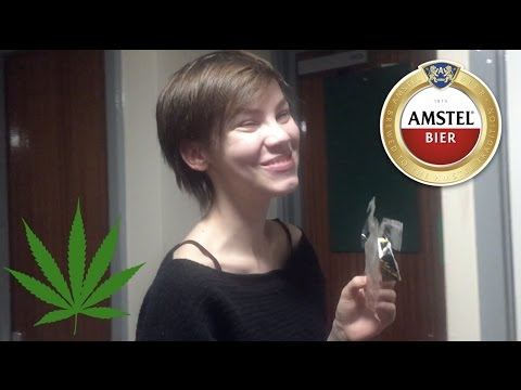 First time pure CBD Space Cookie edible & trying Amstel Beer Amsterdam