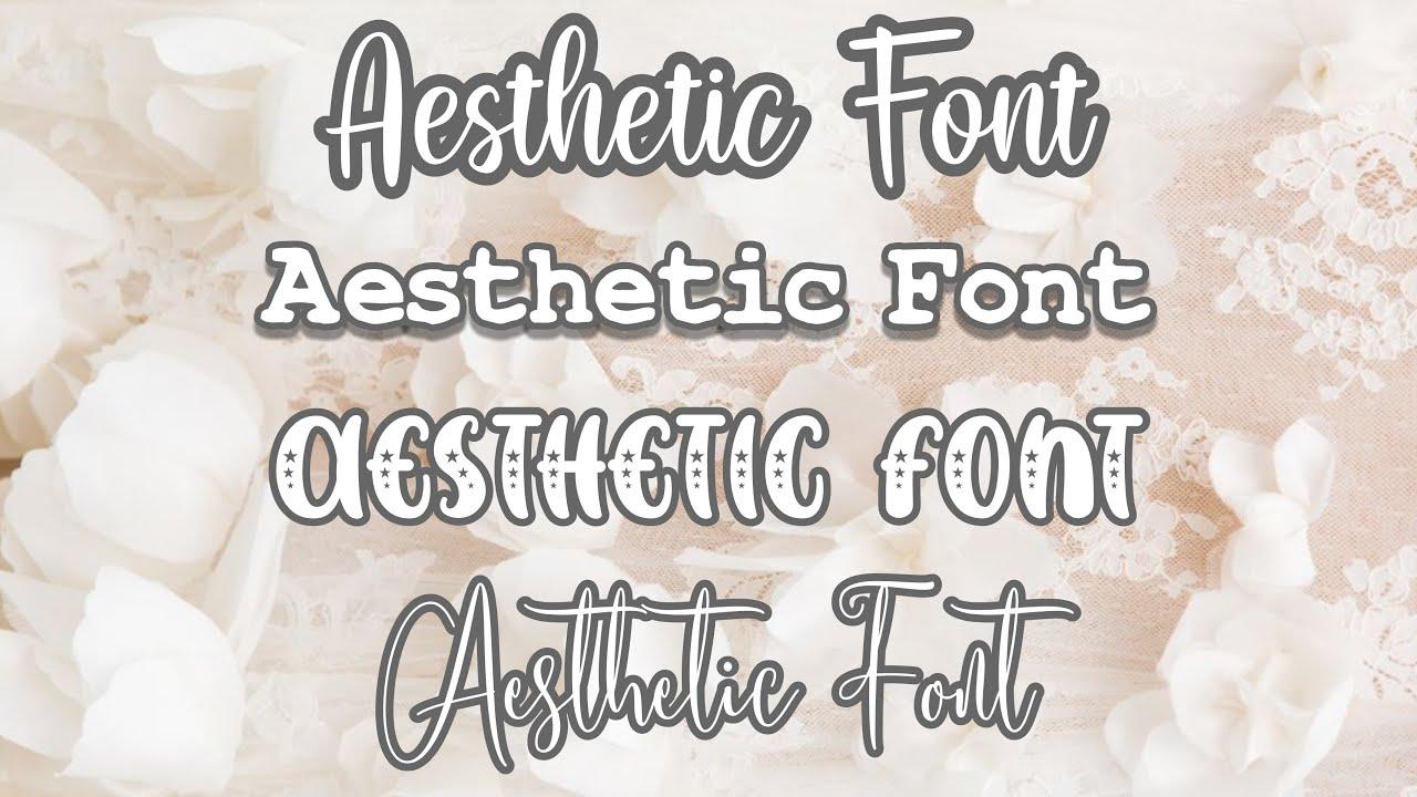 Aesthetic Fonts (dafont.com) | ft. Honey Editzz. - YouTube