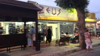 Rhodes Kolymbia Restaurants and Shops street | Travel2planet