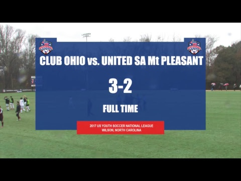 2017 National League - 17U Boys - Field 1- 12pm - Day 2 - Club Ohio vs. United SA Mt Pleasant