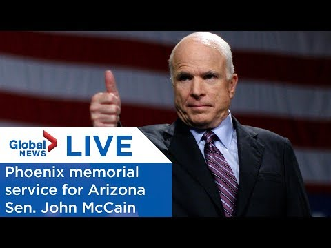 LIVE: Arizona memorial service for Sen. John McCain
