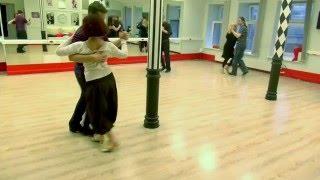 Урок милонги. Свободное танцевание учеников-1.