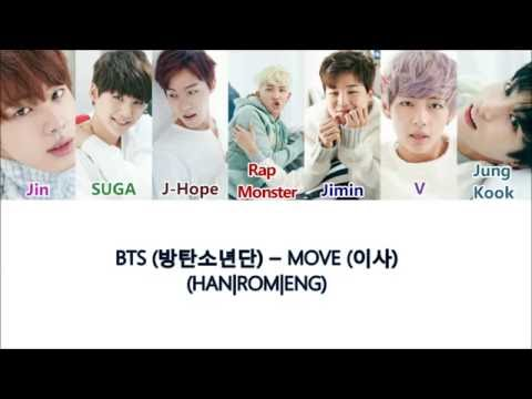 BTS (방탄소년단) - Move (이사) Color Coded Lyrics ( HAN | ROM | ENG )