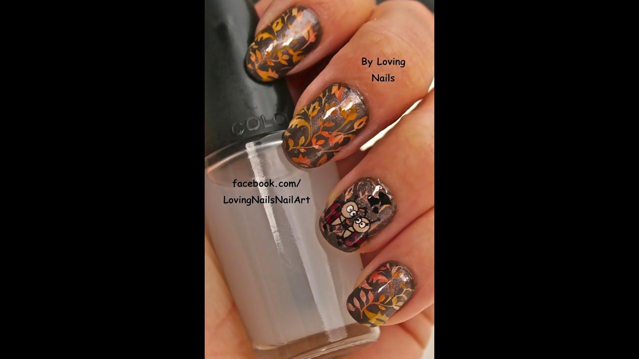 HD Mundo de Unas Autumn Nail Art Multi Color/Gradient Stamping + ...