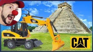 مضحك مهرج بوب المكسيك aztecs الأهرامات | حفارة مركبة البناء في الفيديو للأطفال