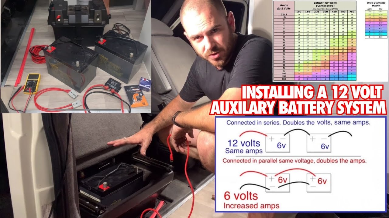 How To Install A 12 Volt Auxiliary Battery System In A