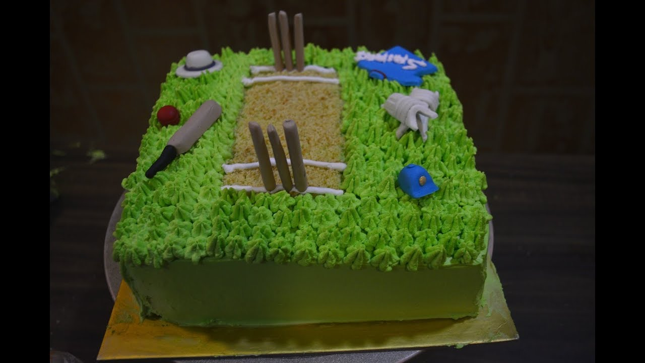 How To Make Cricket Theme Cake
