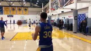 Steph Curry Scary Workout, Shooting Looks Faster!