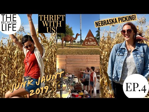 Nebraska Junk Jaunt Ep. 4  Come Thrift The Junk Jaunt With Us! The Recycled Life