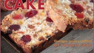 Recette De Cake Aux Fruits Confits / Fruit Cake Recipe Video