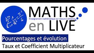 3e/2nde - Pourcentages  et évolution