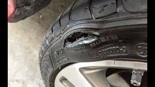 видео Ремонт шин с боковым порезом