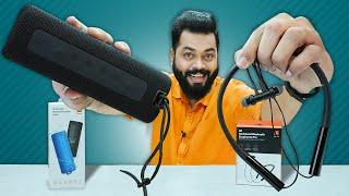 Mi Bluetooth Speaker 16W & Mi Neckband Earphones Pro Unboxing & First Impressions ⚡ Mixed Feelings..