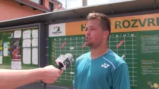 Dominik Starý po výhře v prvním kole kvalifikace na turnaji Futures v Ústí n. O.