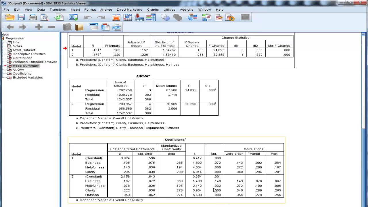how to write results in varible table