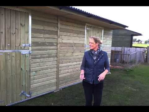 Timber Building. Mobile Horse Stable.