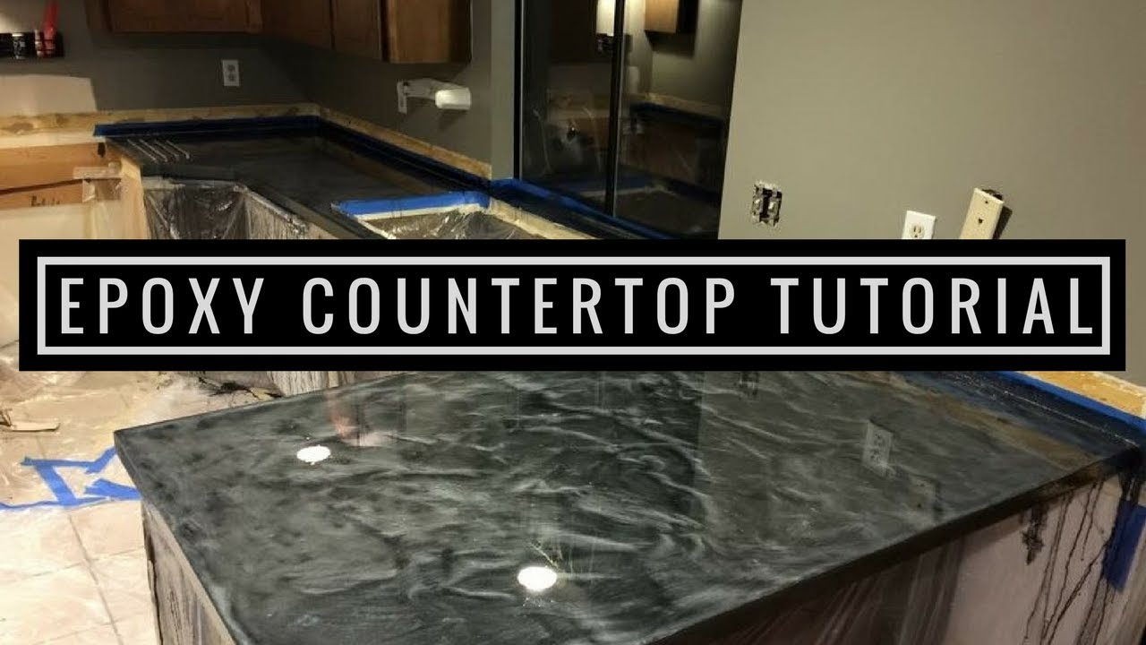Superbe Countertop Resurfacing With Metallic Epoxy | Silver And Charcoal