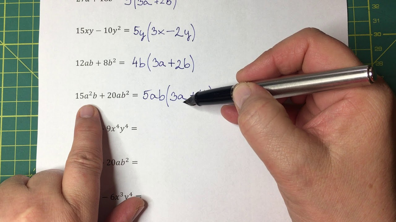 Kiemelés (szorzattá alakítás) - algebra 04