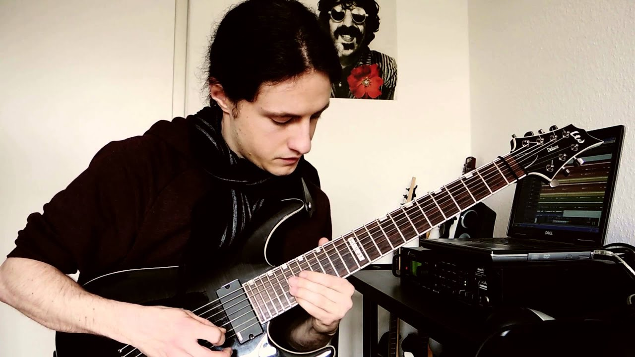 fleshgod apocalypse cold as perfection guitar solo cover youtube