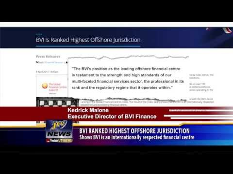 BVI RANKED HIGHEST OFFSHORE JURISDICTION