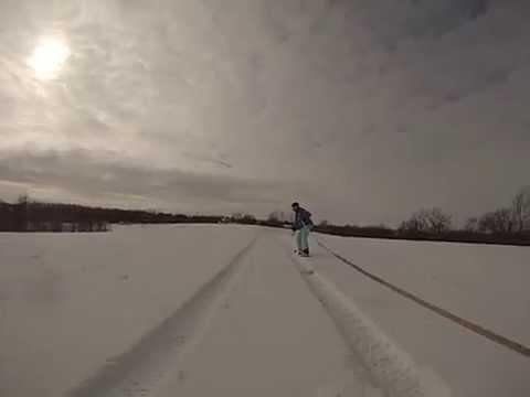 Snowboard like youre wake boarding
