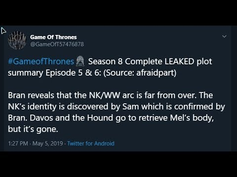 Game Of Thrones Ending Leak Claimed, Lets Go Over it and See For Ourselves