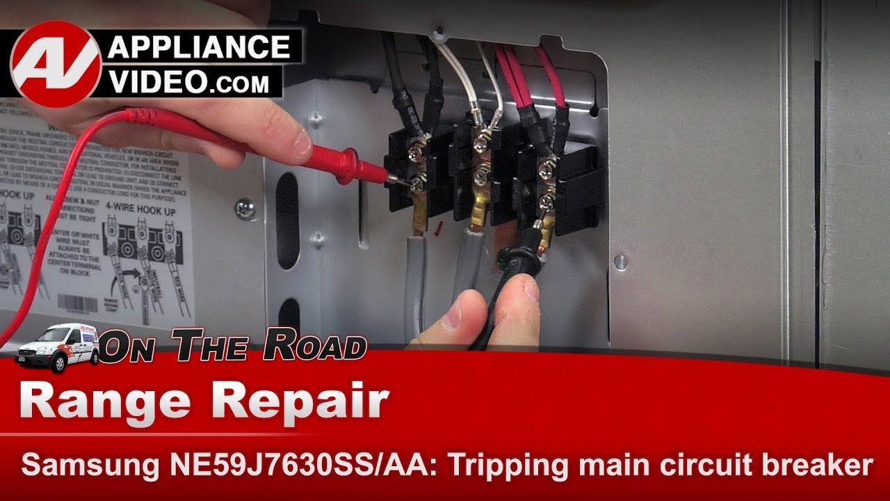 Samsung Range Oven Tripping Main Circuit Breaker Diagnostic Induction Cooker Board N08 Buy Bo Repair