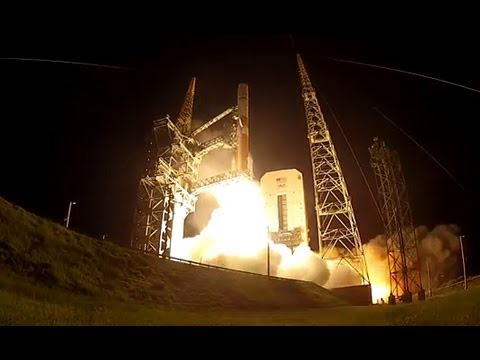 UP CLOSE! A ULA Delta IV Medium+ Rocket Launches WGS-6 Spacecraft, Video Using A GoPro