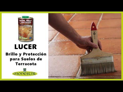 Lucer lustre brillo y protecci n para suelos de terracota youtube - Baldosas de hormigon para jardin ...