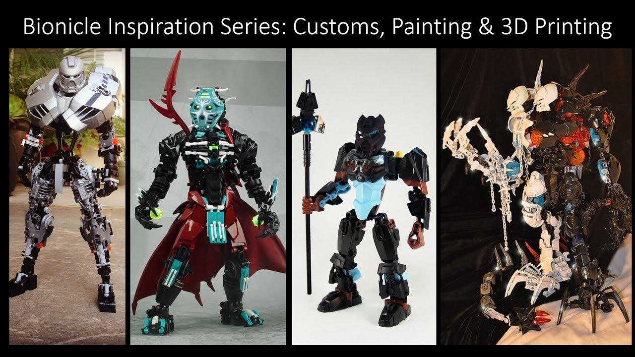 bionicle inspiration series ep 46 custom painting 3d printing