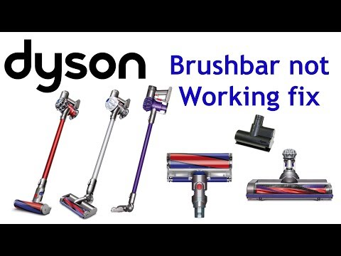 Dyson V6 brushbar stopped 2 minutes easy fix animal total clean absolute