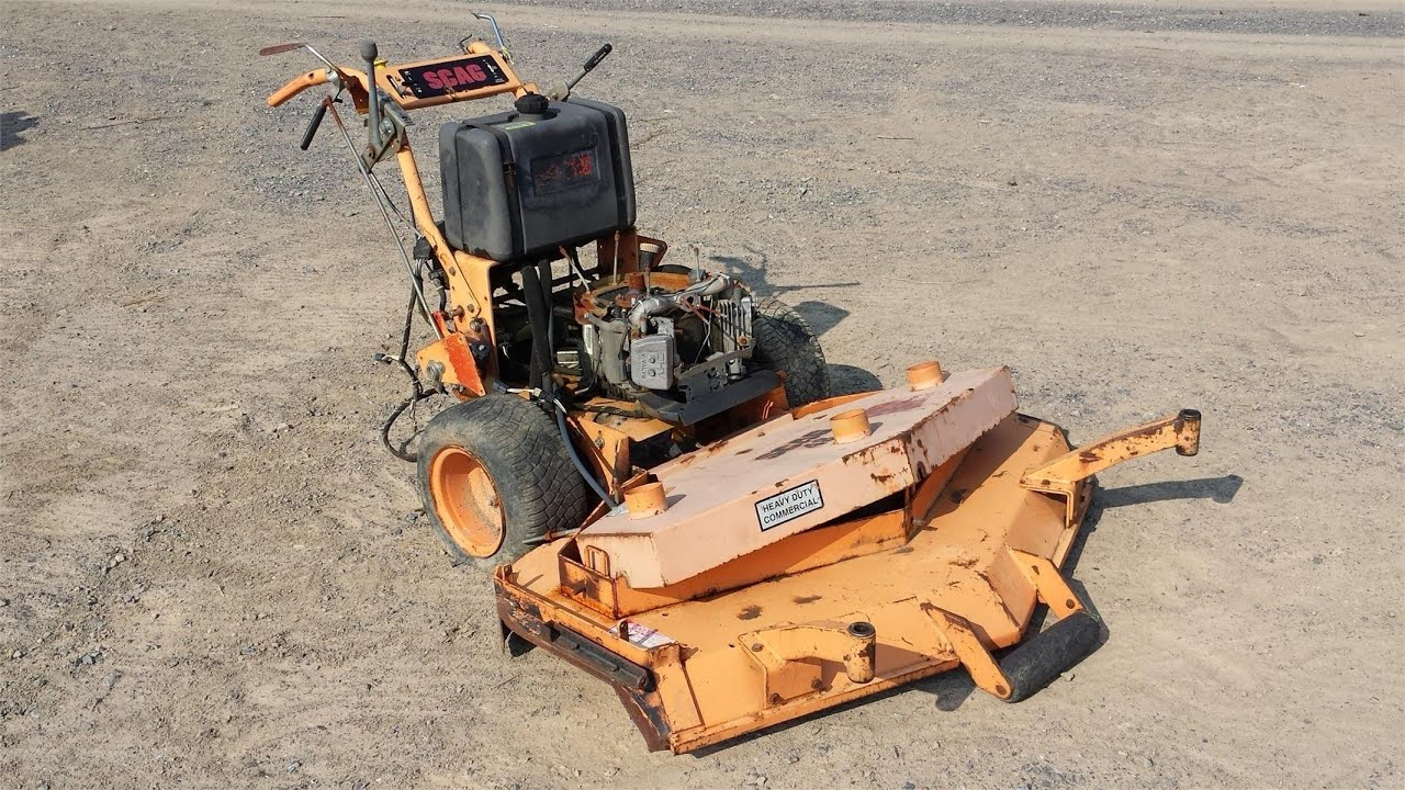 Scag walk behind parts mower