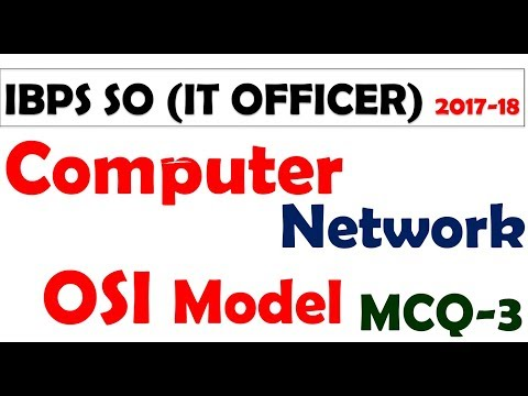 computer network OSI MODEL mcq for sbi and ibps -  part -3