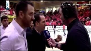 النائب سامي الجميّل يحضر مباراة الهومنتمن – الرياضي: أداء الهومنتمن رائع