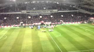 サッカー日本代表vsラトビア代表 JAPAN vs LATVIA ラトビア共和国国歌 2013.2.6