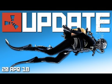 New diving mask, fins and underwater gameplay | Rust update 20th April 2018