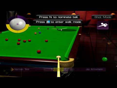 WSC Real 2009: World Snooker Championship PC - Gameplay #1 [HD]