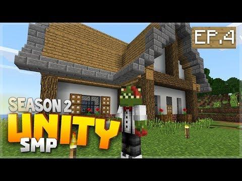 LOOK I BUILT MY HOUSE! EP 4   Minecraft Bedrock Unity Realms SMP Seas 2
