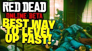 HOW TO GET THE MOST XP/MINUTE IN RED DEAD REDEMPTION 2 ONLINE | RDR2 Best Way to Level Up Fast!