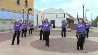 Shimmy Mob 2014 in Vermillion and Yankton, SD