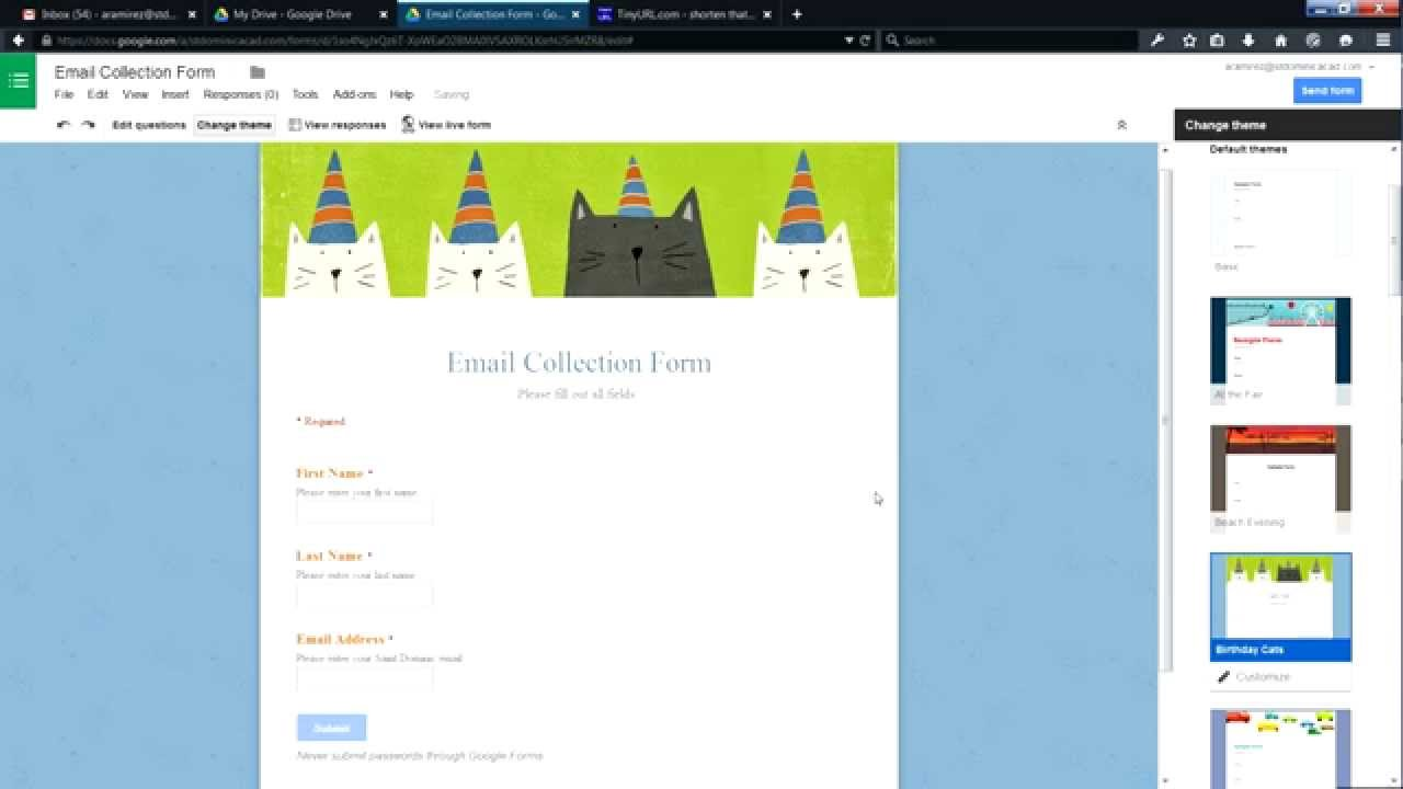 How To Create an Email Collection Form using Google Forms - YouTube