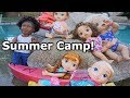 BABY ALIVE Summer Camp Swimming Activities! Baby Alive Videos!