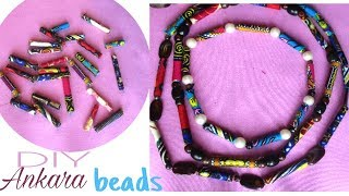 DIY Fabric Bead Necklace- African Print/Ankara/Dashiki