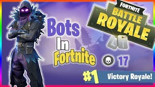 I AM PLAYING AGAINST BOTS!!! | FORTNITE BATTLE ROYALE