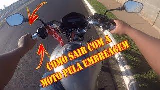 DICAS INICIANTES - COMO SAIR COM A MOTO PELA EMBREAGEM!!