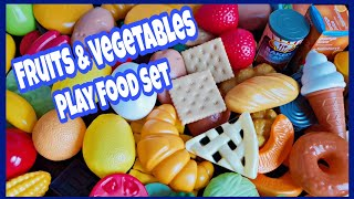 Play Food Kitchen Set For Kids | Fruit & Vegetables Toys | Kids Toys Review